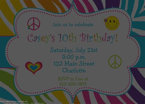 how to create printable party decorations birthday party invitations free invitations ideas