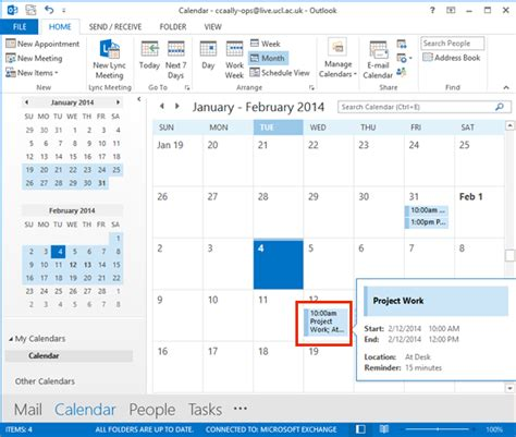 Create New Calendar In Outlook Create An Appointment In Outlook 2013