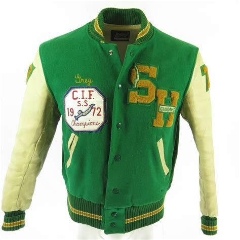 7 Of The Best Varsity Inspired Garments by Vintage 70s Varsity Letterman Jacket Mens 42 Whiting Two