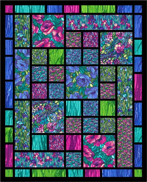 Stained Glass Quilt by Stained Glass Fabrics Confessional Lutheran