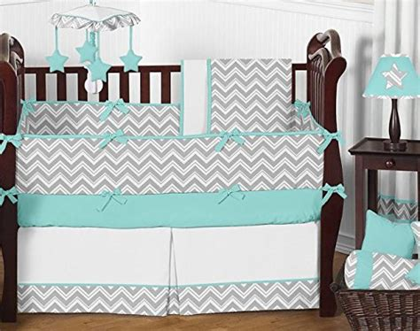 Sweet Jojo Zig Zag Crib Bedding Turquoise And Gray Chevron Zig Zag Musical Baby Crib Mobile By Sweet Jojo Designs