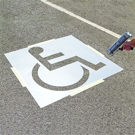 disabled parking bay stencil puresafety