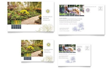 microsoft word landscape layout urban landscaping postcard template word publisher