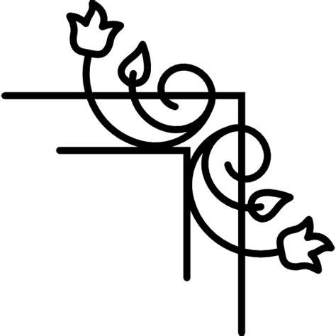 imagenes vectoriales png enredaderas de flores y hojas de borde derecho iconos