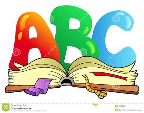 libro el capital en el cartas del abc de la historieta con el libro abierto ilustraci 243 n del vector ilustraci 243 n de