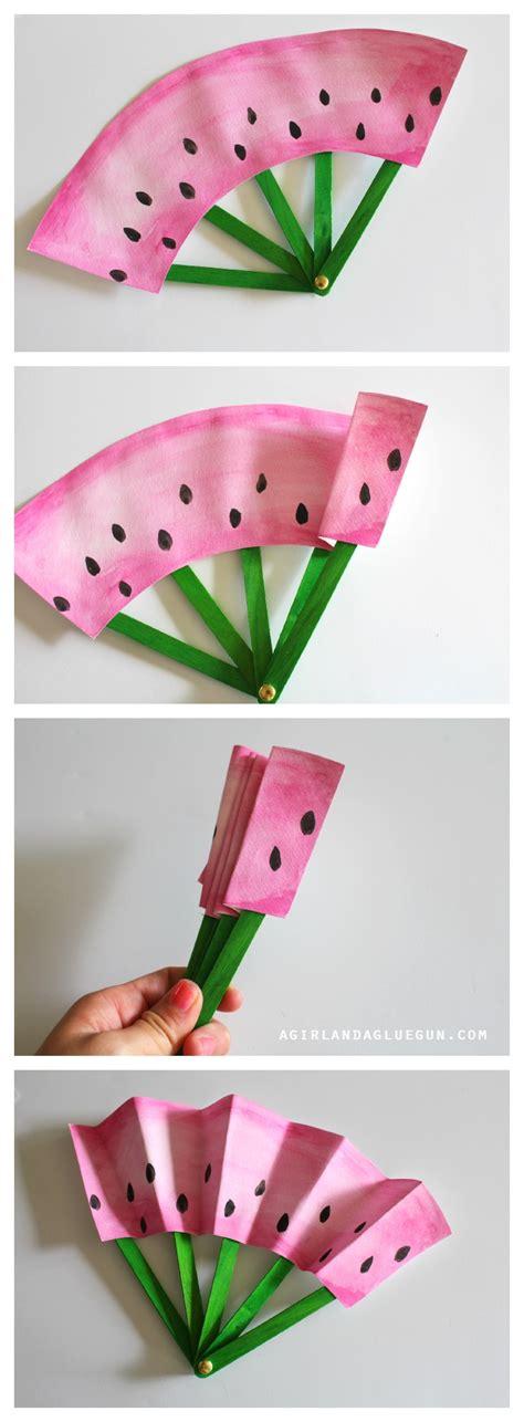 Handmade Fans - diy fruit fans craft the idea room