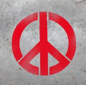 peace sign home decor peace sign wall art stencil home decor peace sign stencil