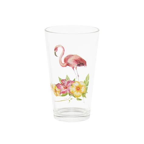 bicchieri bibita bicchiere da bibita vetro decoro fenicottero coincasa