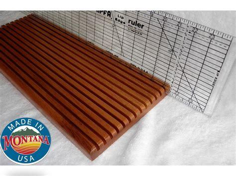 quilting ruler holder 13 slots solid mahogany 0804201301