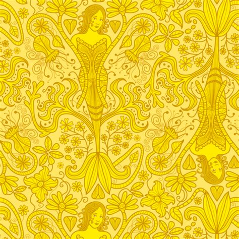 yellow indian pattern background the yellow wallpaper fabric totallysevere spoonflower