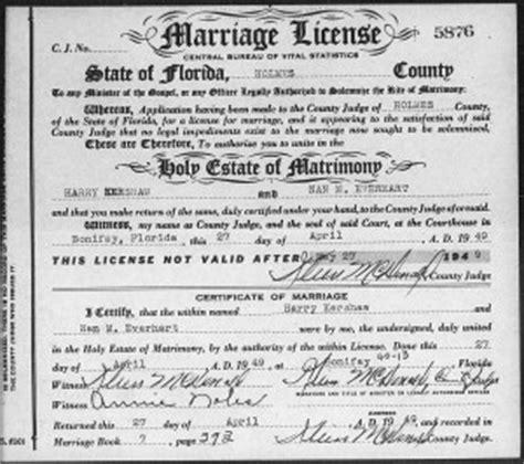 Florida Marriage Records Familytree Com