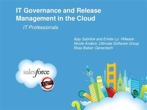 release change management in salesforce it governance and release management in the cloud