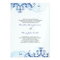 wedding invitations royal blue royal blue scroll fleurish wedding invitation 5 quot x 7