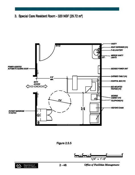 Nursing Home Layout Design Special Care Resident Room 320 Nsf