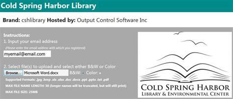 mobile press register circulation desk cold harbor library wireless printing
