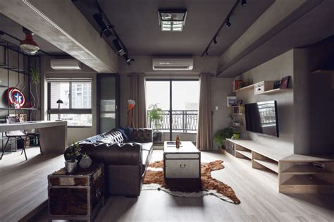 complex bachelor s apartment in taiwan with an industrial