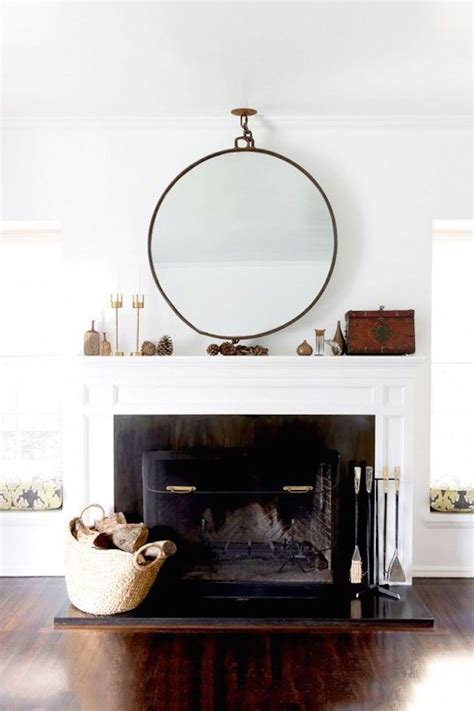 1000 ideas about mirror above fireplace on