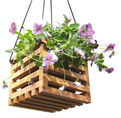 Hanging Flower Planters by Hanging Basket Planter From Reclaimed Wood By