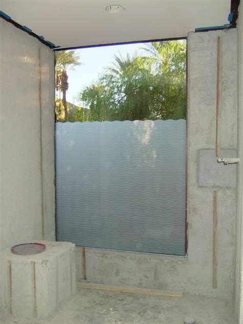 bathroom windows wave pattern frosted glass designs