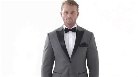 Get The Look Lewiss Tuxedo T Shirt by Tailor Made Grey Peak Lapel Tuxedo Jacket