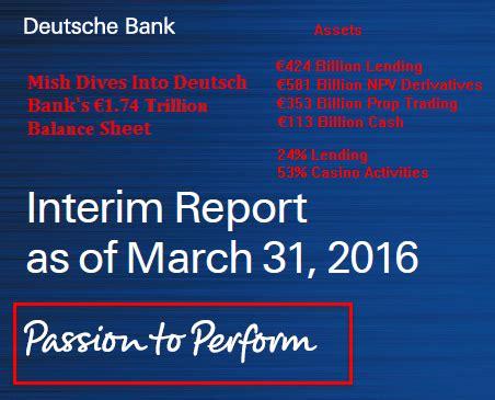 deutsche bank balance diving into deutsche bank s to perform balance