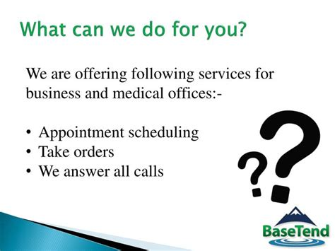 What Can You Do With Md Mba by Ppt Phone Answering Service Basetend Powerpoint
