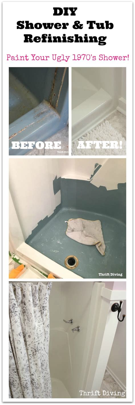 diy resurface bathtub diy shower and tub refinishing i painted my old 1970 s shower