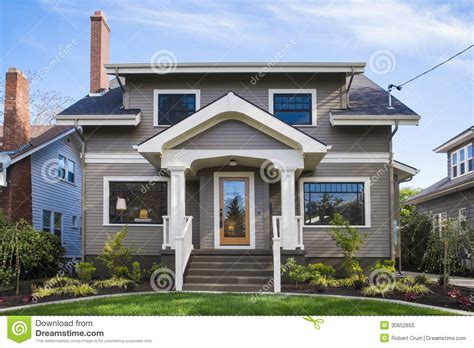 blue craftsman house american craftsman house royalty free stock photo image 30652655