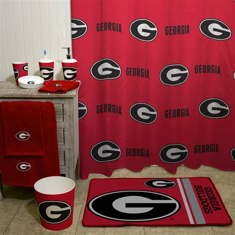 georgia bulldogs bathroom accessories georgia bulldogs bathroom accessories black uga shower curtain curtain menzilperde net