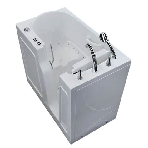 walk in bathtub with jets mustee utilatub 24 in x 20 in structural thermoplastic floor mount utility tub in