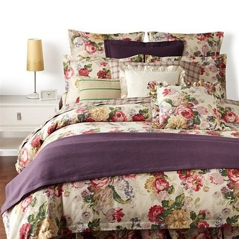 ralph lauren surrey garden floral 13 pc king comforter set