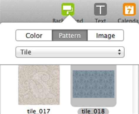 pattern maker mac how to set your collage background