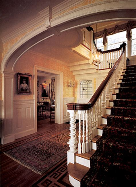 colonial revival interior design house restoration