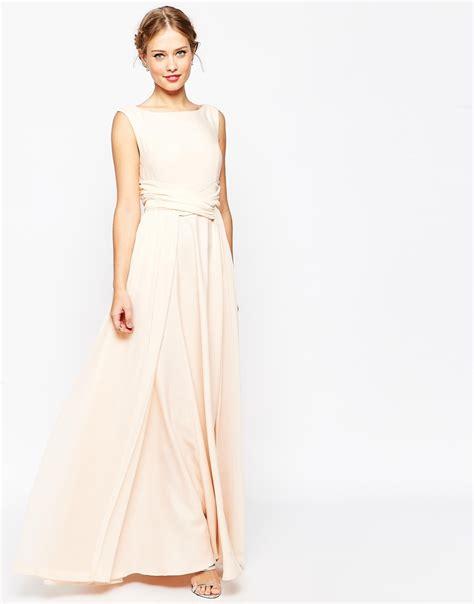 Dress Soft asos wedding soft maxi prom dress in beige lyst