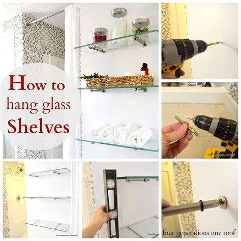 How To Hang Glass Shelves Using Bingo Brackets Four How To Hang Bookshelves