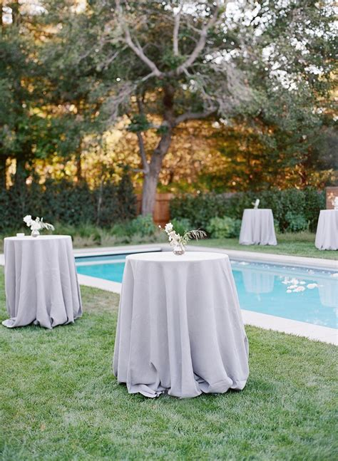 backyard cocktail wedding reception cocktail tables a sophisticated accent in a simple world
