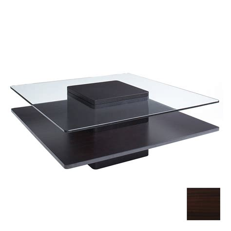 shop the ergo office glass top 55 espresso square coffee