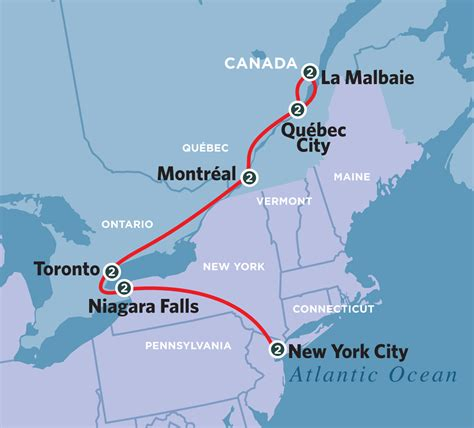 map of new york state and canada new york eastern canada journey 2013 amtrak vacations