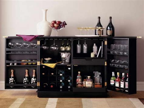 Charming Black Wrought Iron Wine Rack #9: Furniture-black-wooden-modern-liquor-cabinet-decorated-with-carafe-rack-doors-modern-liquor-cabinet-collects-your-favorite-party-beverages.jpg