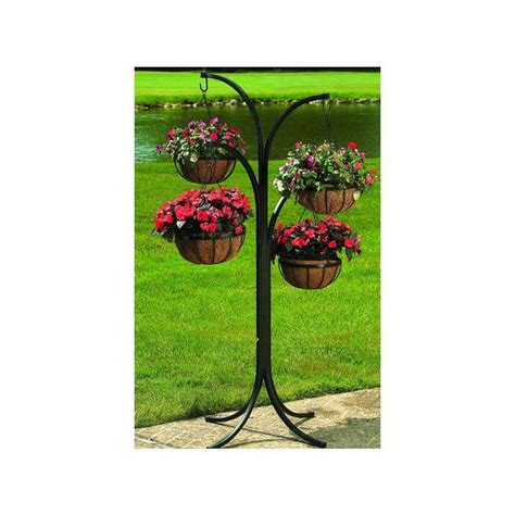 Tree Stand Home Depot - cobraco 12 in metal hanging basket with tree stand 4