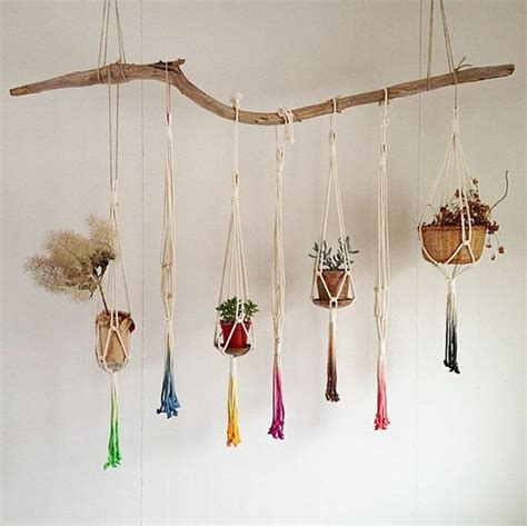 Macrame Hanger - 20 diy macrame plant hanger patterns do it yourself