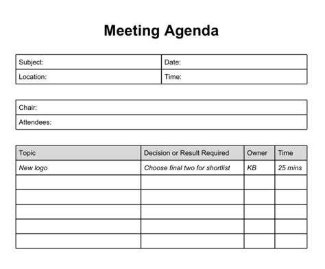 project team meeting agenda template 6 best agenda templates