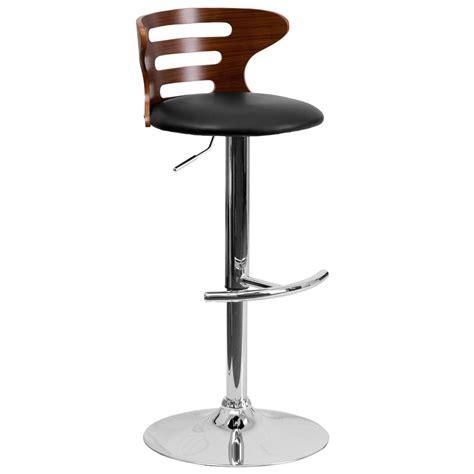 cushioned bar stool safavieh lazzaro 29 in walnut swivel cushioned bar stool