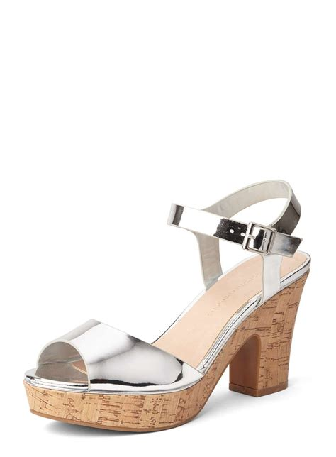 silver romana platform wedge sandals view all sale