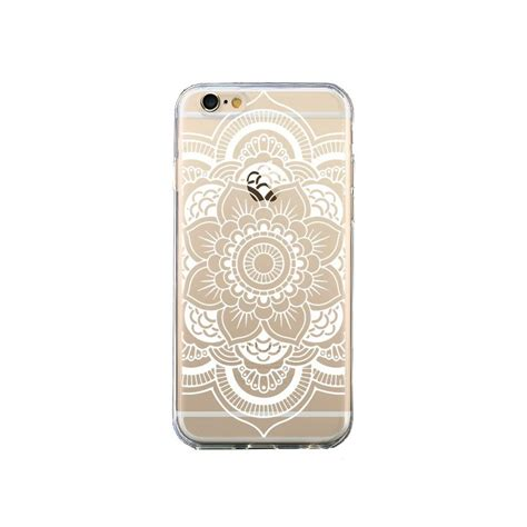 coque mandala blanc azteque transparente pour iphone 6 et 6s nico