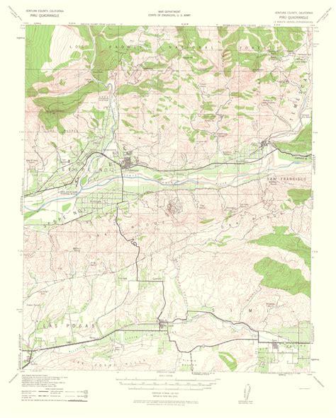 california quadrangle map historical topographical maps piru quadrangle california