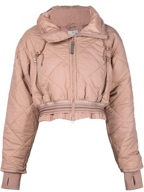Jaket Adidas Pink Fanta lyst adidas by stella mccartney cropped padded jacket in pink