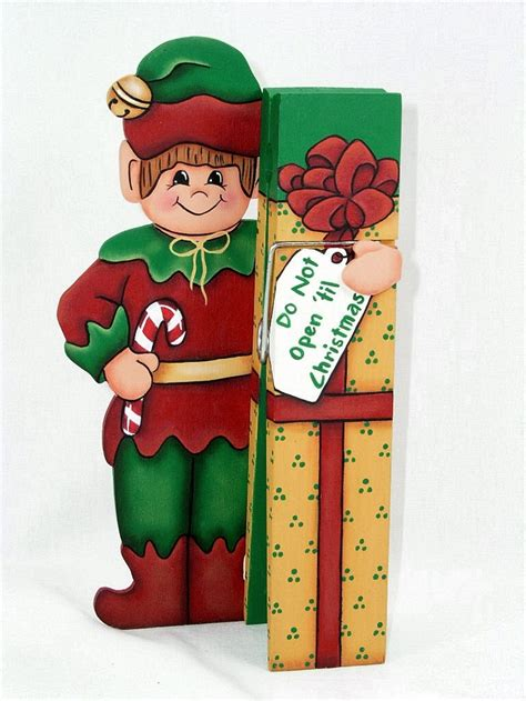 wood elf pattern a stroke of jeanne ius christmas elf clothespin buddy