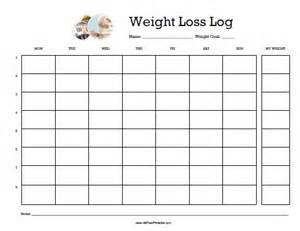 Weight Log Template by Weight Loss Log Free Printable Allfreeprintable