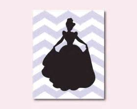 Wall Stickers Make Your Own princess silhouette cinderella nursery or girls bedroom